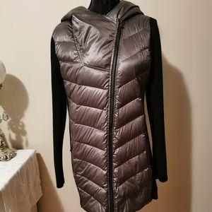 Calvin Klein Matelic Gray & Black Jacket Size L